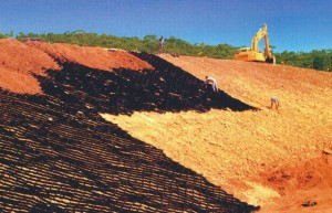Geoceldas en Obras Lineales