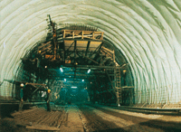 Aplicación geotextil en túneles