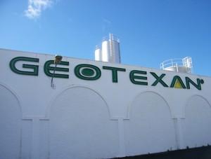 Cartel entrada Geotexan
