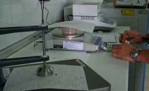 Análisis del gramaje y espesor del geotextil